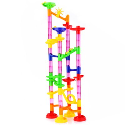 80pcs DIY Construction Marble Race Run Railway