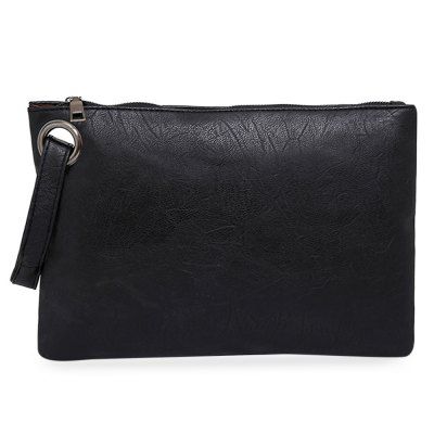 Lady Retro Solid Color Clutch Envelope Bag