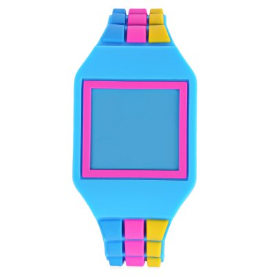 LED Children Digital Square Dial Watch