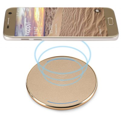 Round Shape Qi Wireless Charger PC Frosted Panel