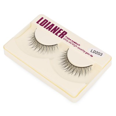 LDIANER Cosmetic Long Cross Makeup Beauty Tools False Eyelashes