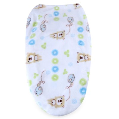 JUST TO YOU Anti-kick Flannel Cartoon Print SwaddlingBaby Bedding<br>JUST TO YOU Anti-kick Flannel Cartoon Print Swaddling<br><br>Suitable Age: 0-1 year old<br>Materials: Flannel,Polyester<br>Shape/Pattern: Print<br>Product weight: 0.103 kg<br>Package weight: 0.125 kg<br>Product size (L x W x H): 47.00 x 30.00 x 1.20 cm / 18.5 x 11.81 x 0.47 inches<br>Package size (L x W x H): 15.00 x 13.00 x 10.50 cm / 5.91 x 5.12 x 4.13 inches<br>Package Content: 1 x Sleeping Bag