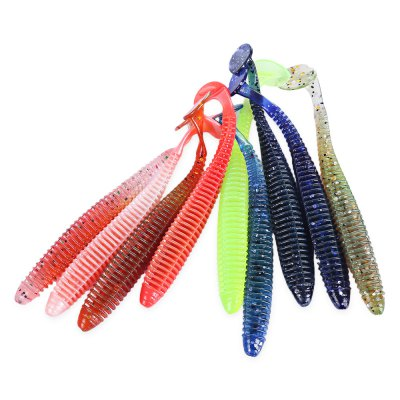 Proberos 10 Color Soft Worm Fishing Lure Bait