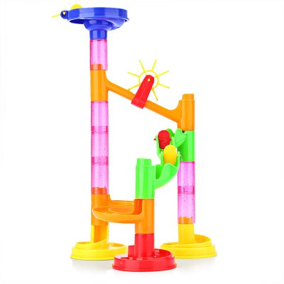 678 - 1 DIY Construction Marble Race Run Railway Set