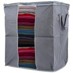 MuHui Bamboo Charcoal Storage Box Clothes Container