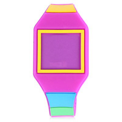 LED Children Digital WatchKids Watches<br>LED Children Digital Watch<br><br>Band Length: 7.28 inch<br>Band Material Type: Silicone<br>Band Width: 16mm<br>Case Shape: Square<br>Clasp type: Pin Buckle<br>Dial Diameter: 1.3 inch<br>Dial Display: Digital<br>Dial Window Material Type: Plastic<br>Feature: Led Display<br>Gender: Children<br>Movement: Digital<br>Style: Simple<br>Product weight: 0.020 kg<br>Package weight: 0.041 kg<br>Product Size(L x W x H): 23.00 x 3.50 x 1.00 cm / 9.06 x 1.38 x 0.39 inches<br>Package Size(L x W x H): 24.00 x 4.50 x 2.00 cm / 9.45 x 1.77 x 0.79 inches<br>Package Contents: 1 x LED Children Digital Touch Screen Watch
