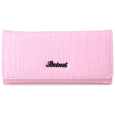 Stylish Stone Striped Pure Color Wallet Coin Purse for Ladies