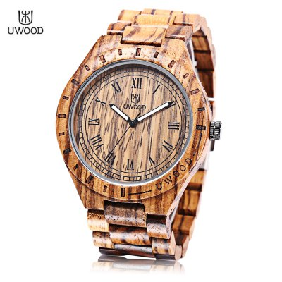 UWOOD UW - 1001 Men Wooden Quartz Watch