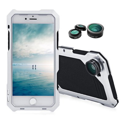 3 in 1 Kit Camera Lens Aluminum Case for iPhone 7