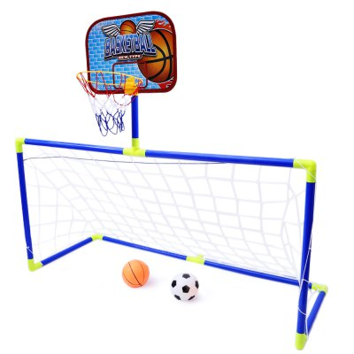 Anjanle Kids Portable 2-in-1 Football Basketball SetOutdoor Fun &amp; Sports<br>Anjanle Kids Portable 2-in-1 Football Basketball Set<br><br>Age Range: &gt; 3 years old<br>Material: Plastic<br>Product weight: 0.682 kg<br>Package weight: 0.931 kg<br>Package Size(L x W x H): 58.00 x 27.00 x 7.00 cm / 22.83 x 10.63 x 2.76 inches<br>Package Contents: 1 x 2 in 1 Basketball Football Set