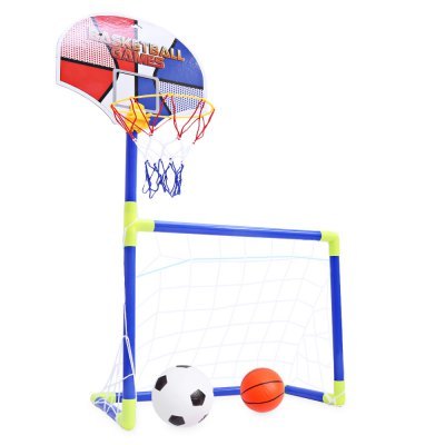 Anjanle Kids Portable 2 in 1 Football Basketball SetOutdoor Fun &amp; Sports<br>Anjanle Kids Portable 2 in 1 Football Basketball Set<br><br>Age Range: &gt; 3 years old<br>Material: Plastic<br>Package Contents: 1 x 2 in 1 Basketball Football Set<br>Package Size(L x W x H): 56.00 x 27.00 x 7.50 cm / 22.05 x 10.63 x 2.95 inches<br>Package weight: 0.743 kg<br>Product weight: 0.504 kg