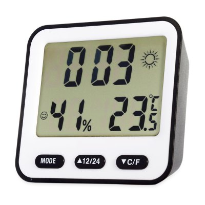 BK - 854 Multifunction Digital Thermometer Hygrometer Alarm Clock