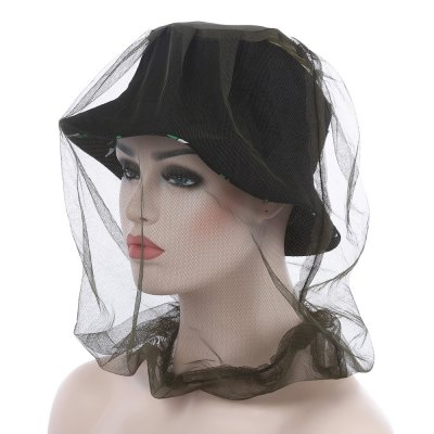 Camouflage Anti-mosquito Net Cap Face Mask Sunshade Hat