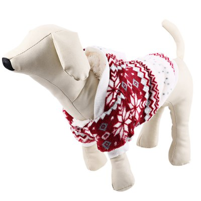 Coral Fleece Cozy Snowflake Pet Dog Clothes