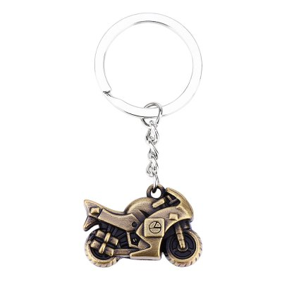 Car Key Ring Classic Motorcycle Design Polishing Surface