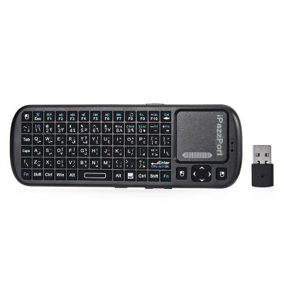 iPazzPort KP - 810 - 19 Mini 2.4GHz Wireless Keyboard QWERTY Touchpad