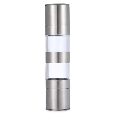 2 in 1 Manual Stainless Steel Pepper Salt Mill Grinder