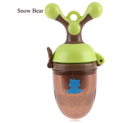 Snow Bear Food Grade Silicone Baby Nutrition Feeder Teether