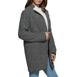 cheap Women Trendy Turn Down Collar Houndstooth Pocket Coat