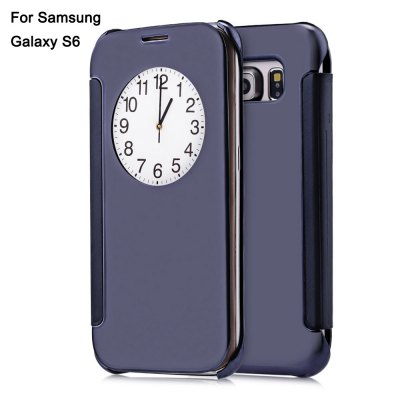 Mirror Luxury PC Flip Cover Case with Auto Sleep Wake Up Function for Samsung Galaxy S6