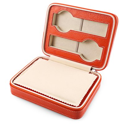 4 Slots Zippered Travel Watch Box