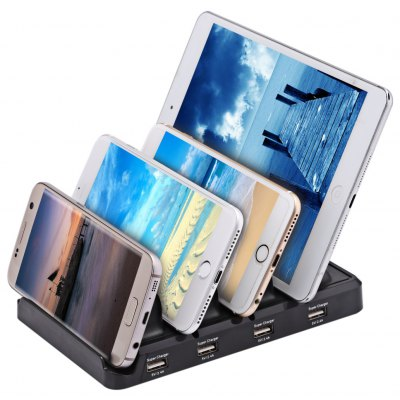 Multifunctional 4 USB 2.4A Output Charging Holder Station