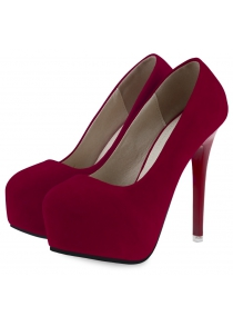 Solid Color Ladies Thin High Heel Shoes