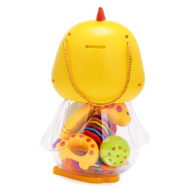 Baby Lovely Colorful Hand Shake Bell Set with Bottle - Duck