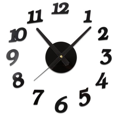 Sangtai6168s Creative 3D Mute DIY Digital Wall Clock