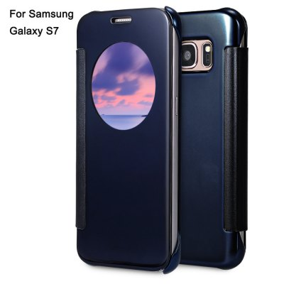 Mirror Luxury PC Flip Cover Case with Auto Sleep Wake Up Function for Samsung Galaxy S7