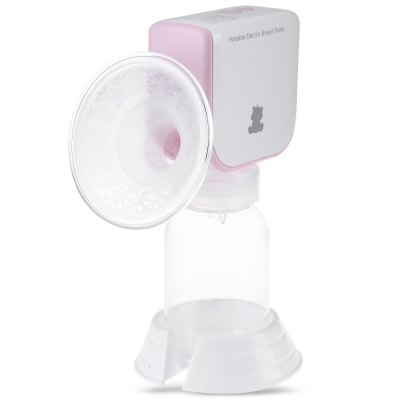 Snow Bear Portable LED PP Silicone Electric Breast PumpFeeding<br>Snow Bear Portable LED PP Silicone Electric Breast Pump<br><br>Item Type: Breast Pump<br>Material: PP,Silicone<br>Powered source: Electric<br>Shape/Pattern: Floral<br>Features: Electric,Washable<br>Power Supply: DC 5V / DC 1 A<br>Power (W): 5W<br>Package weight: 0.555 kg<br>Product weight: 0.370 kg<br>Product size (L x W x H): 13.00 x 9.00 x 18.50 cm / 5.12 x 3.54 x 7.28 inches<br>Package size (L x W x H): 23.00 x 18.50 x 10.00 cm / 9.06 x 7.28 x 3.94 inches<br>Package Content: 1 x Main Engine, 1 x Base, 1 x Bottle, 1 x Dust Cover, 1 x USB Cable, 1 x Adapter