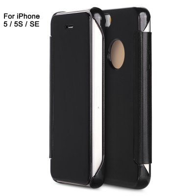 Mirror Luxury PC Flip Cover Case for iPhone 5 / 5S / SE