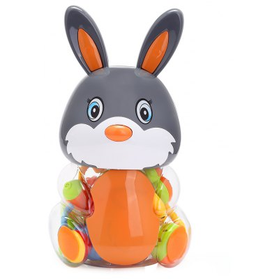 Baby Lovely Colorful Hand Shake Bell Set with Bottle - Rabbit