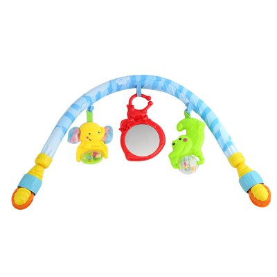 Baby Bed Crib Hanging Rattles Mobile Toy Plush Arched Bell