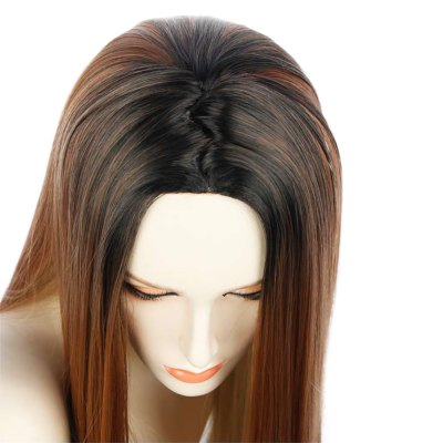 long-straight-central-parting-gradient-mixed-color-wigs