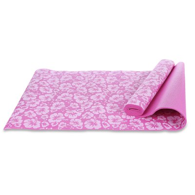 Exercise Fitness Yoga Mat Accessory with Flower Printing