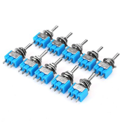 10PCS 6A 125V Toggle Rocker Switch for Cars BoatsOther Car Gadgets<br>10PCS 6A 125V Toggle Rocker Switch for Cars Boats<br><br>Colors: Lake blue<br>Package Contents: 10 x Toggle Rocker Switch<br>Package Size(L x W x H): 8.00 x 6.00 x 1.50 cm / 3.15 x 2.36 x 0.59 inches<br>Package weight: 0.080 kg<br>Product Size(L x W x H): 3.30 x 1.30 x 0.80 cm / 1.3 x 0.51 x 0.31 inches<br>Product weight: 0.005 kg