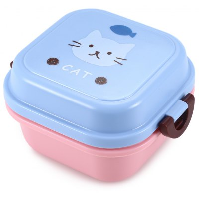 Bangduo Cartoon Animal Microwave 2 Layer Lunch Box