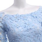 Women Sweet Off The Shoulder Beaded Flare Sleeve Lace Dress deal