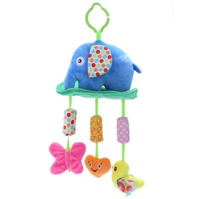 Lovely Animal Plush Hanging Bed Bell Rattle Toy for Baby