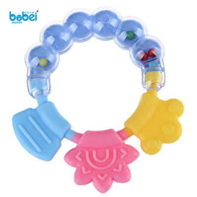 Bobeielephant Toy Bell Teether Glister Device Rattle