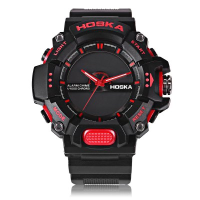 HOSKA HD032B Children Digital Quartz WatchKids Watches<br>HOSKA HD032B Children Digital Quartz Watch<br><br>Band Length: 7.87 inch<br>Band Material Type: Rubber<br>Band Width: 22mm<br>Case material: Plastic<br>Case Shape: Round<br>Clasp type: Pin Buckle<br>Dial Diameter: 1.97 inch<br>Dial Display: Analog-Digital<br>Dial Window Material Type: Plastic<br>Feature: Alarm,Back Light,Chronograph,Date,Day<br>Gender: Children<br>Movement: Digital,Quartz<br>Style: Sport<br>Water Resistance Depth: 50m<br>Product weight: 0.065 kg<br>Package weight: 0.087 kg<br>Product Size(L x W x H): 25.00 x 5.50 x 1.00 cm / 9.84 x 2.17 x 0.39 inches<br>Package Size(L x W x H): 26.00 x 6.50 x 2.00 cm / 10.24 x 2.56 x 0.79 inches<br>Package Contents: 1 x Watch