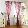 100 x 250cm Flower Printed Tulle Curtains deal