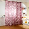 100 x 250cm Flower Printed Tulle Curtains for sale
