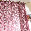 best 100 x 250cm Flower Printed Tulle Curtains