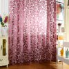 100 x 250cm Flower Printed Tulle Curtains photo