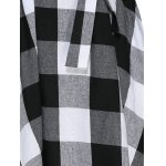 best Women Trendy Turn Down Collar Color Block A-Line Plaid Dress