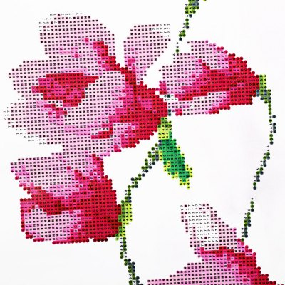 105 x 35cm 5D Butterfly Magnolia Painting Cross Stitch Tool