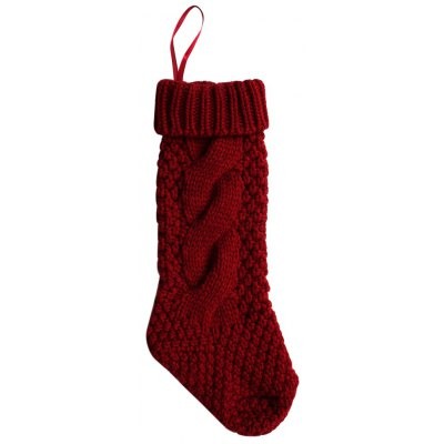 Pure Color Ladies Knitted Christmas Knee Socks