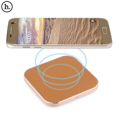 HOCO CW2 PU Leather Alloy Frame Wireless Charger